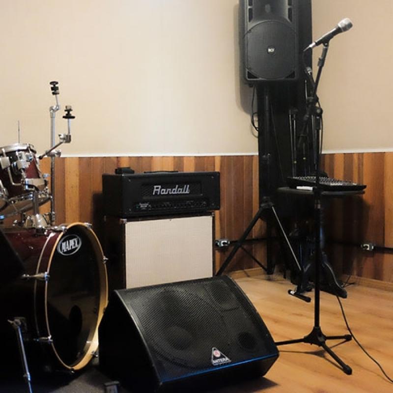 Sala Acústica para Ensaio Jardim Celeste - Estúdio Ensaio de Bandas