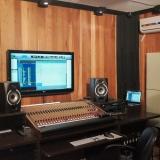 trilhas sonoras para filmes em estudio de gravação