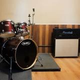ensaio em estúdio de música